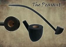 MacQueen Peasant Churchwarden Tobacco Pipe Smoke Rings Medieval Finish Ash Wood