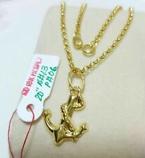 GoldNMore: 18K Necklace and Pendant Gold 20 inches 1.9G