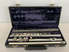 Vintage Armstrong Open Hole Flute Model 80 Sterling Silver Body & Head w/ Case