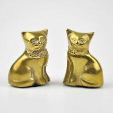2 Messingkatzen - Katzen aus Messing - Katze - Figur - Vintage Brass Cat Figures