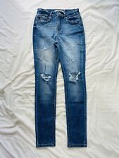 KanCan Estilo Womens Size 26 x 28 Destroyed Distressed Skinny Jeans Mid Rise