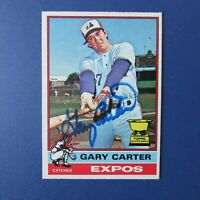 GARY CARTER  1976 O-Pee-Chee OPC  # 441 Signed AUTO Montreal Expos New York Mets