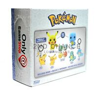 SEALED Funko POKEMON Gamestop Collectors Box Flocked Pikachu 353 Squirtle 504