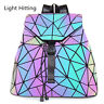 Luminous Geometric Purse Backpack Reflective Backpack Fashion Backpack & Wallet