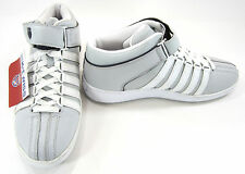 K-Swiss Shoes Basketball Trainers Mid Straps Gray/White Sneakers Size 9.5