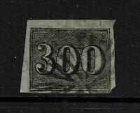 Brazil SC# 27, Used, Upper Right small shallow margin thin - Lot 080917