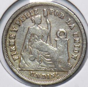 Peru 1866 Dinero 192776 combine shipping