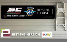 SC proyecto de escape, MV Agusta Banner para taller, garaje, Pit Lane