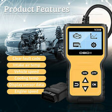 Automotive OBD2 Scanner with OBD II Cable Car Check Engine Fault Diagnostic Tool