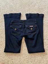 HUDSON Women's Size 25 Jeans Dark Wash FLARE Leg Flap Pockets