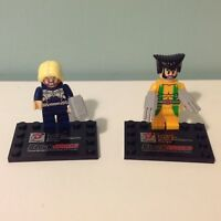 Lego Dargo Block World Wolverine And Thor Minifigures On Stands