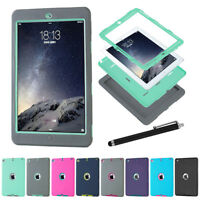 US Heavy Duty Shockproof Tablet Back Case Cover For Apple iPad 234 Mini 123 Air