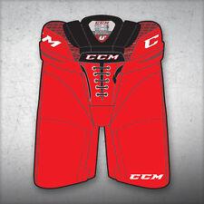 "New CCM Crazy Light U+ CL ice hockey pants junior jr large lg red waist 26""-28"""