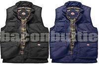 Mens Dickies Quilted Padded Work Wear Combat Gilet Gillet Coat Jacket Bodywarmer