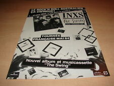 INXS - THE SWING!!!!!!!!!!!!!!!!!!!!!PUBLICITE / ADVERT