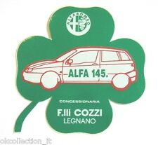 ADESIVO / Old Car Sticker Vintage_ ALFA ROMEO ALFA 145 quadrifoglio (cm 9 x 9)