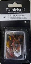 New listing 2 Packs Danielson Trout Fly Assortments J14-14 and/or J14-10 - 24 Flies Total