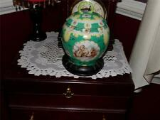 VICTORIAN CHERUB GINGER JAR WITH LID HAND PAINTED