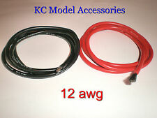 12 AWG Black - Red Silicone Wire 2m Lipo Battery Cable Good Quality UK Seller.