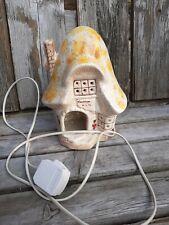 Ceramic Mushroom House Night Light / Lamp Jonathan 1991