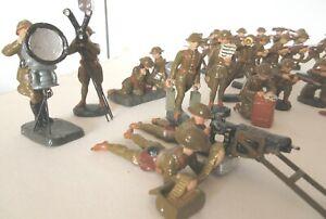 German Elastolin WW1 British Army Infantrymen Composition Figures and Equipment