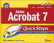 Adobe Acrobat 7.0 QuickSteps Marty  Matthews, John Cronan Paperback