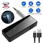 Wireless Bluetooth 5.0 USB Transmitter Receiver 2in1 Audio Adapter 3.5mm Aux Car