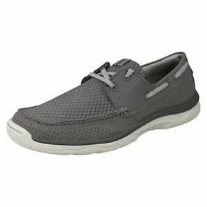 MENS CLOUDSTEPPERS CLARKS MARUS EDGE LACE UP BOAT CASUAL WALKING SHOES SIZE