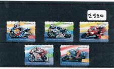 Australia 2004 Motor Cycle 5 Values Peel and Stick Fine Used     E520