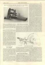 1915 Percy Pitman Pelton Wheel High-Pressure Hetherington Planing Machine