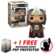 FUNKO POP LORD OF THE RINGS KING ARAGORN EXCLUSIVE + FREE POP PROTECTOR