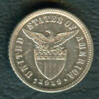 1919-S US Philippines 10 CENTAVOS United States of America Silver Coin KM-169