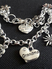BRACELET SET silver plated ROLO chain Tibetan Silver Grandma and Grand daughter