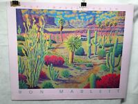 "Ron Marlett - Desert Oasis - Pop Impressionism Art Print Poster 30"" x 24"""
