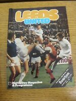 15/03/1975 Leeds United v Everton  (rusty staples, folded). Footy Progs (aka bob