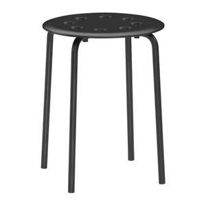 IKEA Stool Marius stackable Kitchen Breakfast Bar Dining Stool  WHITE or BLACK