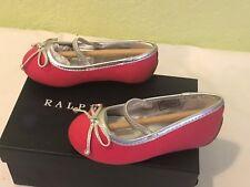 Polo Ralph Lauren Allie Pink/Bright Blush Ballet Flats Little Kids Girls 4.5 NEW