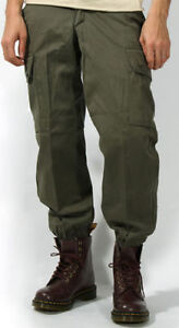 French F2 Od Field Parachute Pants Green Olive Drab Army Cargo Combat Trousers