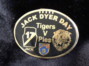 AFL Original 90s Tigers Vs Pies Jack Dyer Game Day Pin