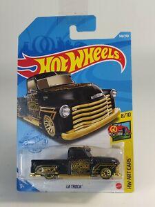 2021 Hot Wheels LA TROCA  HW ART CARS Black on Long Card ©M