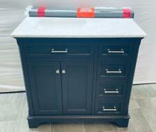 "New ListingScott Living 36"" Dark Gray Undermount Single Sink Bathroom Vanity 2026Va-36-200"