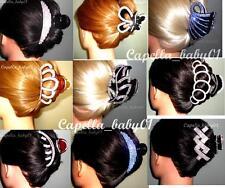Capella *USA* WHOLESALE LOTS 10PCS Rhinestone Crystal Boutique Hair Clip Claw