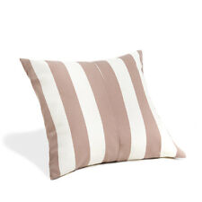 Ivory Oyster Stripe Water Resistant Garden Outdoor 45cm Filled Scatter Cushion