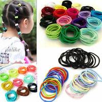 50PCS Kids Girl Elastic Rubber Hair Ties Band Rope Holder Scrunchie Ponytai H8W8