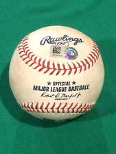 Yankees at Indians Game Used Baseball 7/13/18 MLB Authenticated JC337055