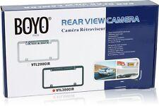 Boyo VTL300CIR Black Night Vision License Plate Camera With 140° Wide Angle NEW