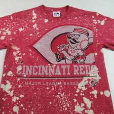 Vintage Cincinnati Reds T Shirt All Over Print Majestic Mlb Baseball Small