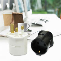 European 2 Pin to UK 3 Pin Plug Adaptor Euro EU Schuko Travel Mains Adapter New