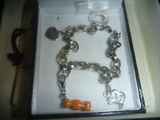 "SILVER LADIES BRACELET CHARM THOMAS SABO GIFT BAG 8"" & 3 CHARMS 22G"
