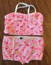 Janie And Jack Pink Flamingo 2 Piece Swimsuit 6-12 Months